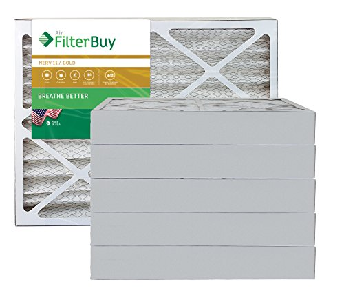 AFB Gold MERV 11 12x36x4 Pleated AC Furnace Air Filter. Pack of 6 Filters. 100% produced in the USA.