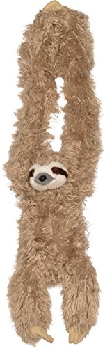 (Wild Republic Hanging Three Toed Sloth Plush, Stuffed Animal, Plush Toy, Gifts for Kids, Zoo Animals, 30 inches)