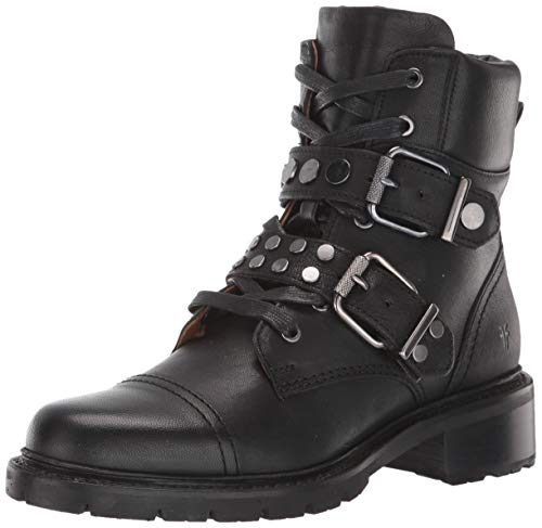 FRYE Women's Samatha Stud Hiker Hiking Boot, Black, 7.5 M US