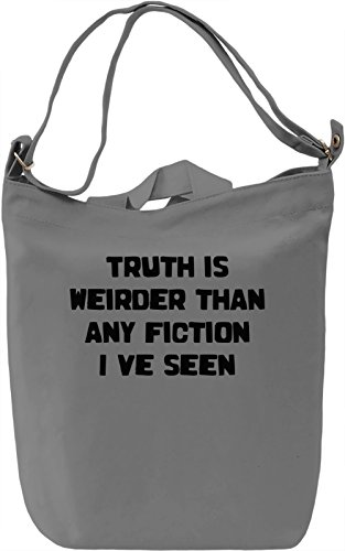 Truth is Weird Borsa Giornaliera Canvas Canvas Day Bag| 100% Premium Cotton Canvas| DTG Printing|