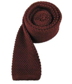 (The Tie Bar 100% Silk Knit Burgundy Skinny Tie)