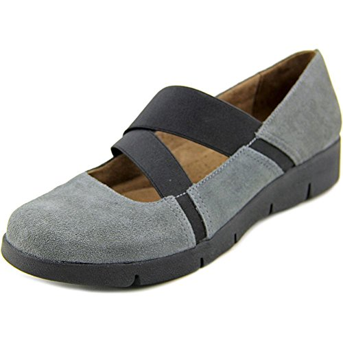 Naturalizer Natural Soul Womens Populate Mary Jane Suede Shoe (6 B(M) US, Graphite) ()