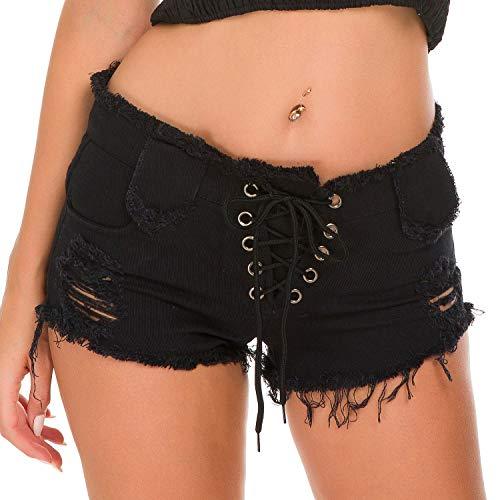 命令的アテンダント浸したYao 夏の女性のデニムショートパンツホットパンツジーンズナイトクラブの女性のセクシーなハイウエストホールファッションショートパンツ