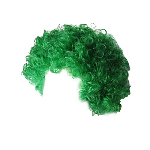 [SeasonsTrading Economy Green Afro Wig ~ Halloween Costume Party Wig (STC13037)] (Work Team Costumes)