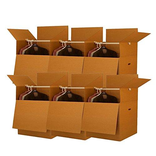 Uboxes BOXMINIWAR06 Shorty Space Saving Wardrobe Moving Boxes (Bundle of 6) 20