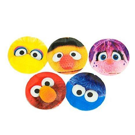 100 pcs. Round Cartoon Childrens Band Aid, Latex Free, Adhesive Bandages Kids Bandaids Bulk and Sesame Street PVC Figure (1- Random) Bundle