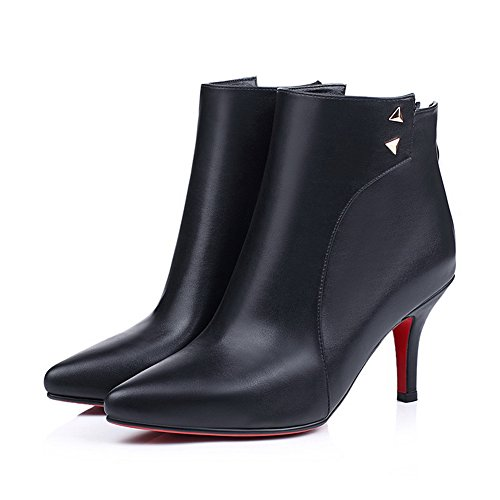 Materials Winkle Zipper Ladies Black Metal Boots Ornament Blend amp;N A Back Pinker BzOIwpgBn