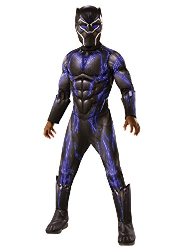 Rubie's Costume Deluxe Black Panther Child's Costume, Blue, Medium -