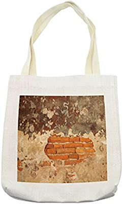 bdbd60f580d7 Amazon.com - Lunarable Antique Tote Bag, Old Historical Floral Mural ...
