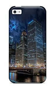 3211861K24774771 Tpu Shockproof Scratcheproof Chicago City Hard Case Cover For Iphone 5c