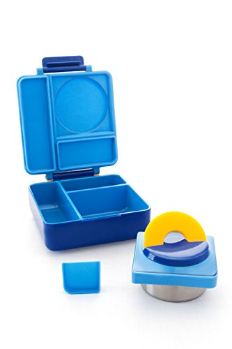 omiebox bento lunch box with insulated thermos for kids blue sky desertcart. Black Bedroom Furniture Sets. Home Design Ideas