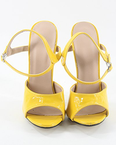WONDERHEEL femme stilleto jaune heel fetish 7