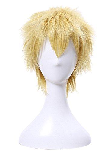 Ryuji Sakamoto Skull Cosplay Wig Xcoser Persona 5 Golden Straight Hair for Men