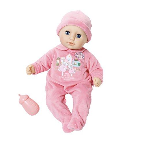 Zapf Creation - My First Baby Annabell weiche Babypuppe mit Schlafaugen, pinkem Strampler und Mütze, inklusive Trinkfläschchen, geeignet ab 12 Monaten, rosa, 36 cm Zapf Creation AG 700532