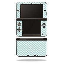 MightySkins Protective Vinyl Skin Decal Cover for Nintendo 3DS XL Original (2012-2014 Models) Sticker Wrap Skins Aqua Chevron