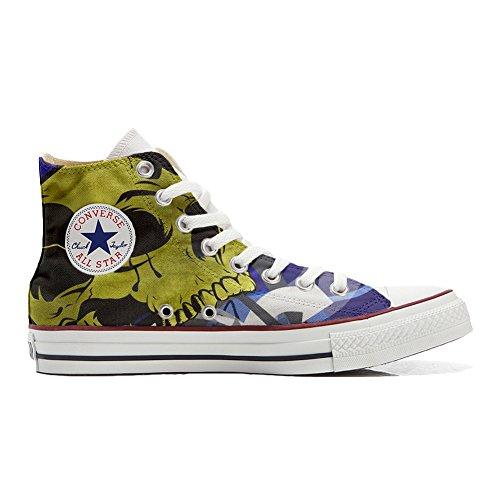 Converse All Star zapatos personalizados (Producto Artesano) con el cráneo