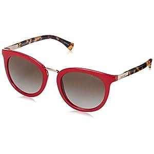 Polo Ralph Lauren Women's 0RA5207 Round Sunglasses, Red & Tokyo Tortoise, 52 mm