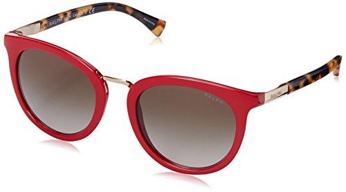 (Polo Ralph Lauren Women's 0RA5207 Round Sunglasses, Red & Tokyo Tortoise, 52 mm)