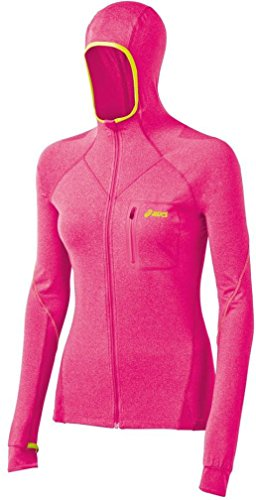 Asics Women's Fujitrail Hoodie, Magenta Heather, Small