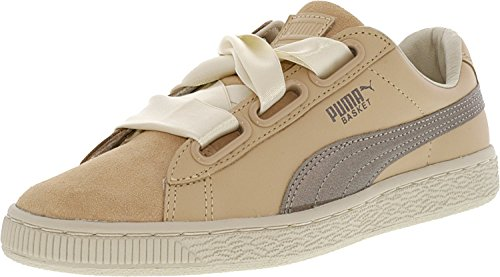 Heart 6 Women's Up PUMA Natural Basket Vachetta Natural US B Vachetta 5 q1AWO