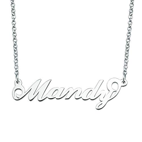 SexyMandala Personalized Name Necklace Initial Necklace Customized Sterling Silver Original Font Pendant Jewelry Same Day Shipping Gift for Mandy from SexyMandala