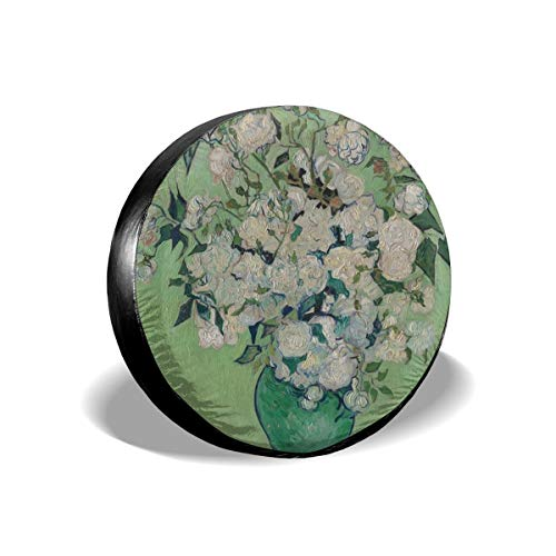 Roses in Green Vase by Van Gogh Leader Accessories Spare Tire Cover,Waterproof Dust-Proof(Fit 23-32 Inches) ()