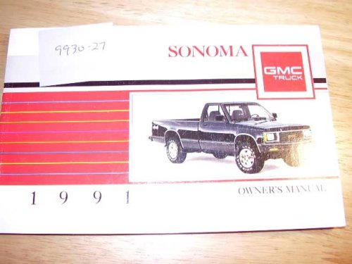 1991 GMC Sonoma Pickup Truck Owners Manual