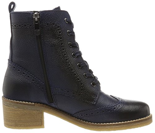 Be Natural 25200, Stivali Combat Donna Blu (Navy)