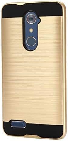 DDLBiz Brushed Hybrid Phone Cover Case For ZTE Zmax Pro Z981