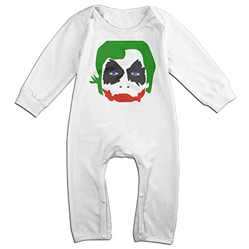 KIDDOS Baby Infant Romper Joker Unisex Long Sleeve Jumpsuit Costume,White 24 Months
