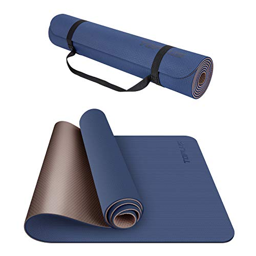 TOPLUS Yoga Mat, Non-Slip Yoga Mat Eco Friendly Exercise & Workout Mat with Carrying Strap- for Yoga, Pilates and Floor…