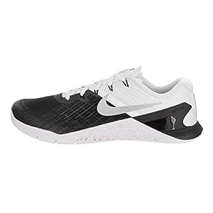 Nike Mens Metcon 3 Training Shoes Track Black/White/Metallic Silver 852928-005 Size 10