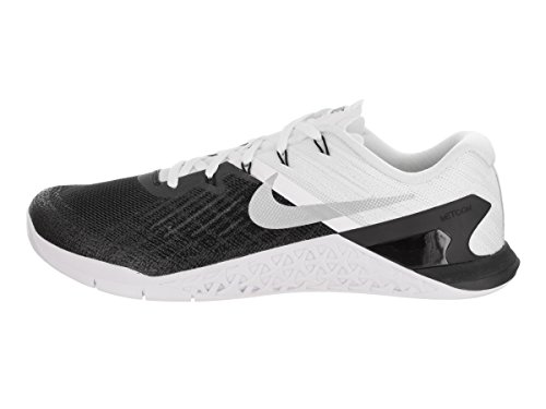 Nike Men's Metcon 3 Gymnastics Shoes Black/White/Metallic Silver buy cheap supply classic 5NP5BAjhl