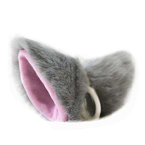 Chunshop Cat Fox Fur Ears Anime Neko Costume Cosplay Halloween(Deep (Neko Girl Halloween Costume)