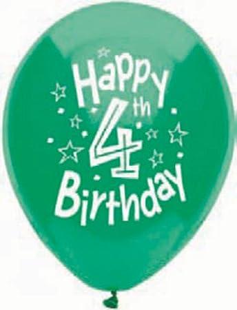 Amazon 4th Birthday Balloons
