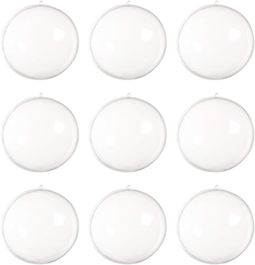 boules vides /à suspendre boules /à savon 50 mm boules de bain DOITOOL Lot de 30 boules transparentes /à remplir pour sapin de No/ël