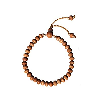 Set of Small Hand-made Adjustable Tension Exotic Tamarind and Sandalwood Tree Wood Tasbih Bracelets 33-beads by Exotic Beads: Toys & Games