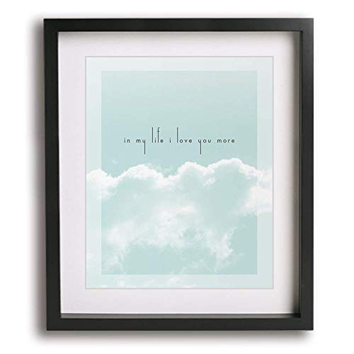 In My Life | The Beatles inspired wedding song lyric art print - romantic first paper anniversary gift idea