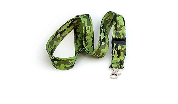 Correa de Cuello Verde militar Llaveros de Cuello Correa de Llaves de Cuello Tarja 73 Lanyard Con Llavero extraible por menos de 5 euros BANDERA DE ESPA/ÑA peque/ña