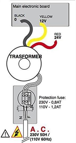 1 ou 2 portes battantes Ducati CTH42 Carte /électronique pour motorisation de portail