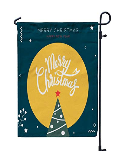 Shorping Thanksgiving Garden Flag, 12x18Inch for Holiday and Seasonal Double-Sided Printing Yards Flags Christmas Banner Design Happy New Year eve Poster Christm ()