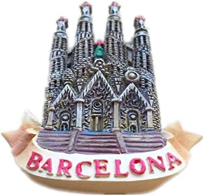 Weekino Souvenir Barcelona Catedral España Imán de Nevera Resina ...