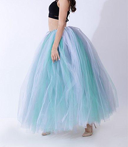 Elastic Tulle Vintage Tulle Petticoat Jupe Femme en Ceinture Princesse Longue blanc3 100cm wqUnTxYa