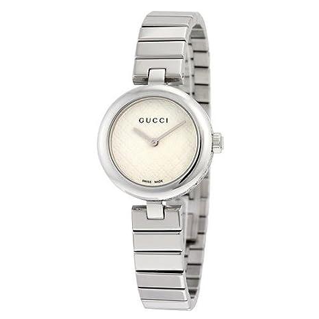 0b829e52691 Gucci Diamantissima White Dial Stainless Steel Small Ladies Watch YA141502   Amazon.ca  Luggage   Bags