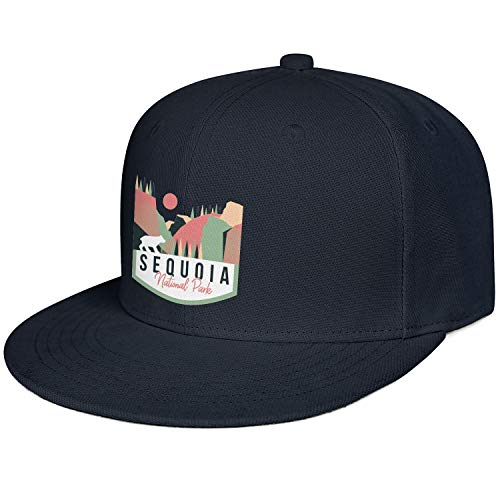 Sequoia National Park Unisex Cotton Flat Brim Cap Adjustable Mesh Trucker Hat