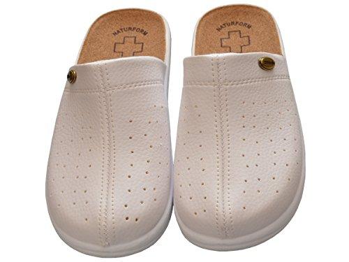 Mujer chanclas Sandalias comodidad corcho Zapatillas trabajo Modelo 3512 blanco
