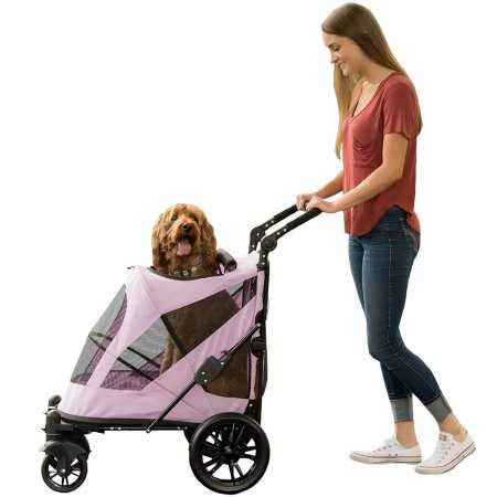 Pet Gear NO-Zip Stroller, Push Button Zipperless Dual Entry, for Single or Multiple Dogs Cats, Pet Can Easily Walk in Out, No Need to Lift Pet