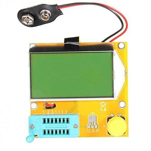 LCR-T3 Transistor Tester Resistance Capacitance Diode ESR Inductance Meter - Arduino Compatible SCM & DIY Kits Module Board - 1 x Transistor Tester