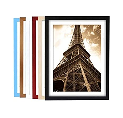 2 2, White Set of Two Andrea White Photo Frames White Picture Frames 8 x 10 inch with Clear Real Glass
