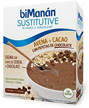 Bimanan Sustitutive crema avena y cacao 5 unidades: Amazon.es ...